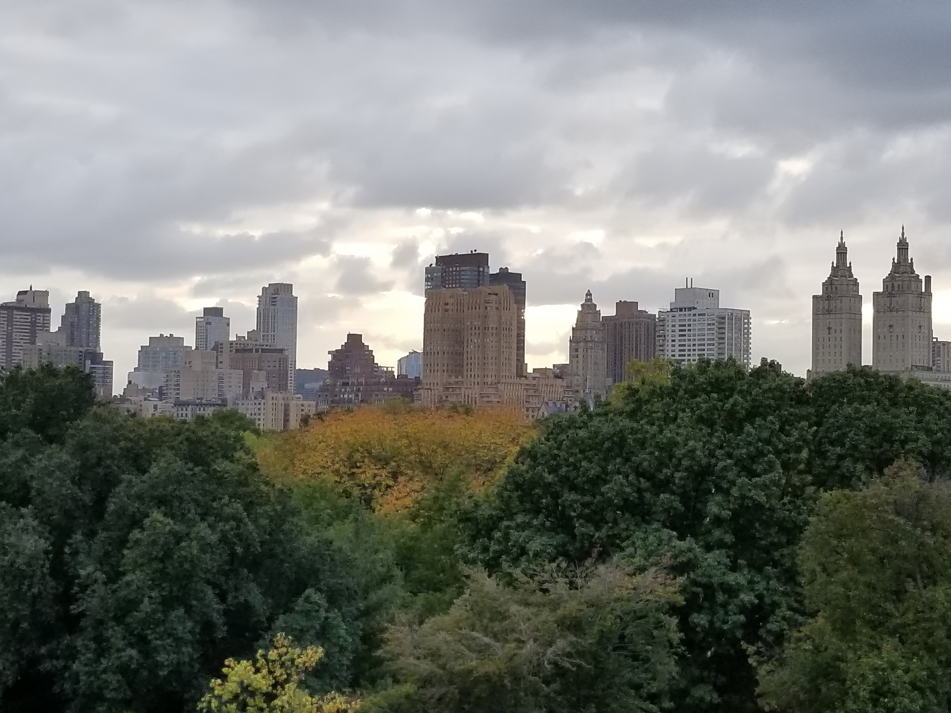 Central Park from Metropolitan Museum of Art, New York