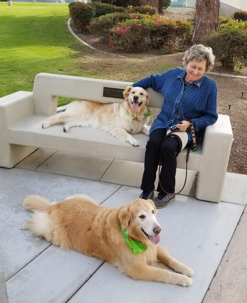 Donna with Sophie and Harlow
