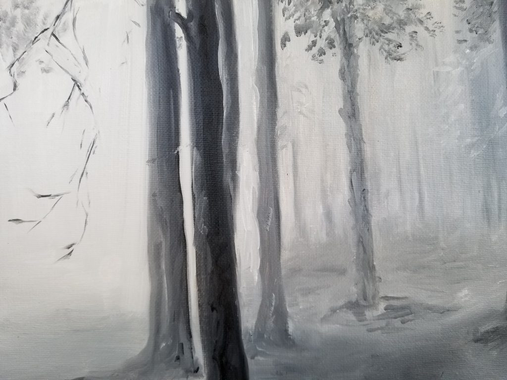 Trees in Fog - Value Study