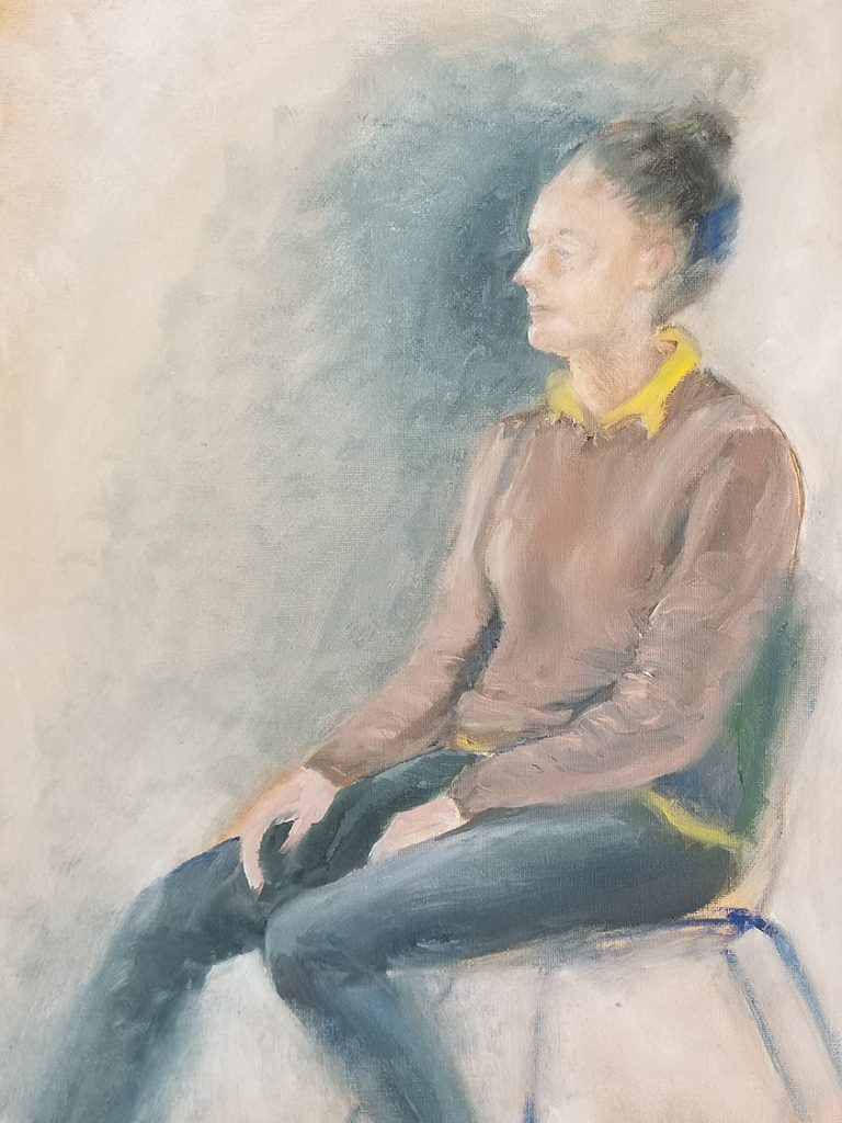 Woman in an Uncomfortable Chair
