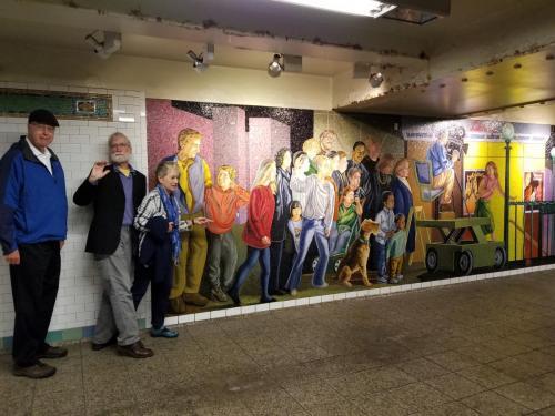 Jim, Nancy and Frank more subway stop art
