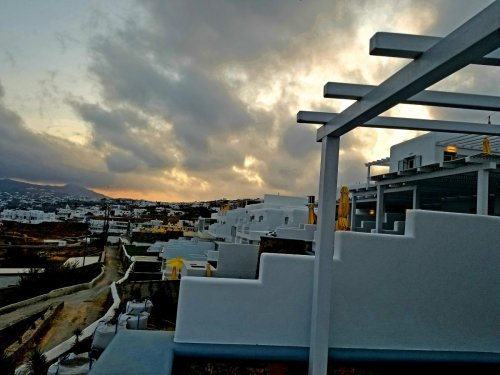 From our room at dawn in Mykonos