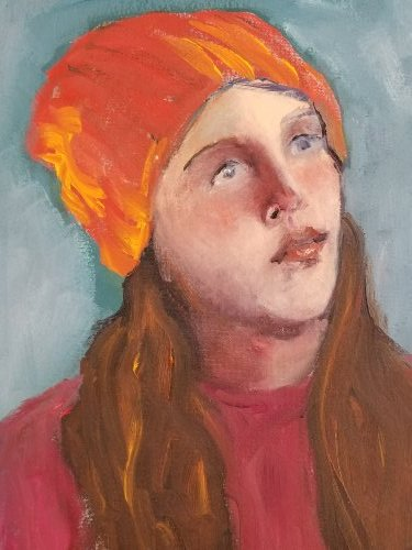 Girl in an Orange Hat