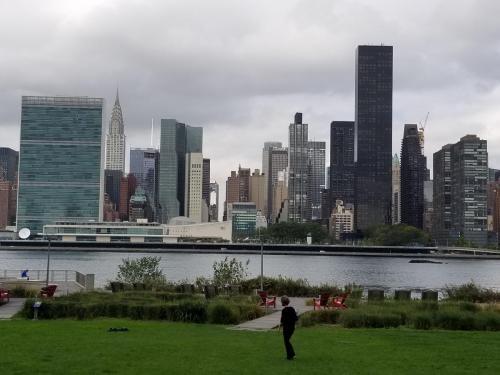 NYC skyline from Gantry Park