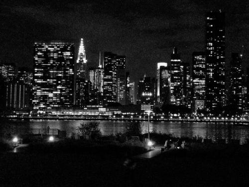 Skyline at night from LIC